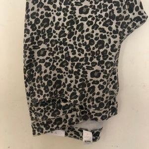 Loft Modern Skinny Leopard print Jeans Sz 18